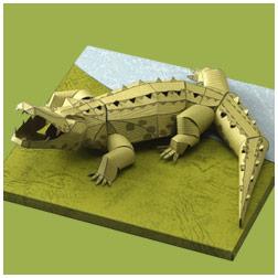 Papercraft de un cocodrilo cubano. Manualidades a Raudales.