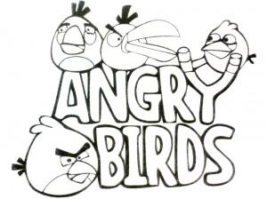Colorear Angry Bird. Manualidades a Raudales.