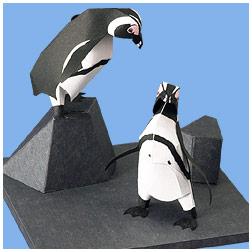 Papercraft del Pingüino del Cabo. Manualidades a Raudales.