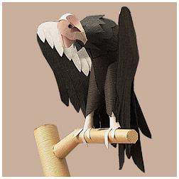 Papercraft imprimible y armable del Cóndor de California / California Condor. Manualidades a Raudales.