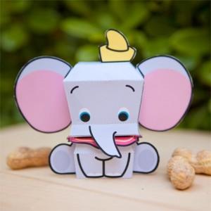 Papercraft de elefante Dumbo de Disney. Manualidades a Raudales.