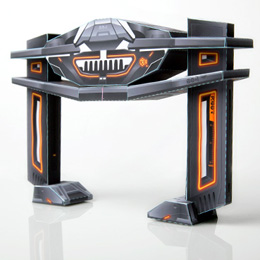 Papercraft de Tron Recognizer. Manualidades a Raudales.