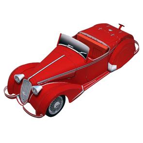 Papercraft del Alfa Romeo 8C2900B. Manualidades a Raudales.