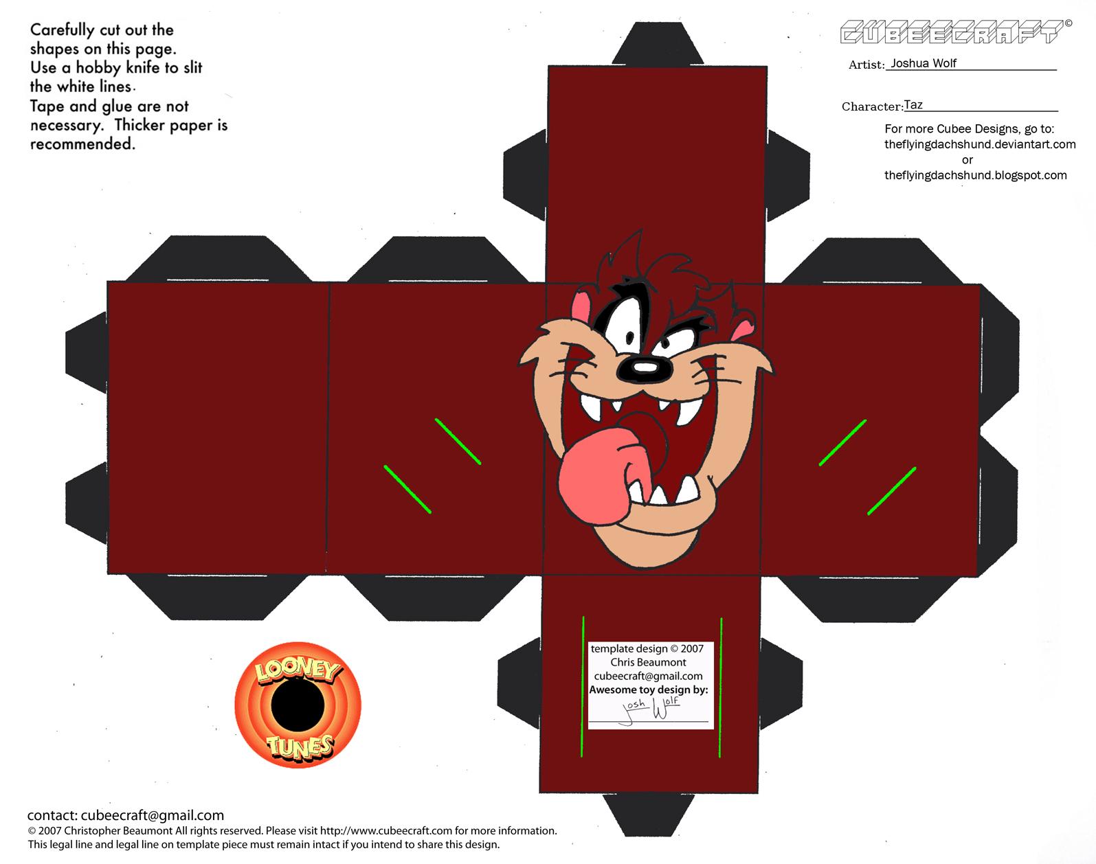 Cubeecraft de los famosos personajes de Looney Tunes. - Manualidades ...