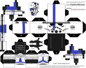 Cubeecraft de personajes de Satr Wars. Manualidades a Raudales.