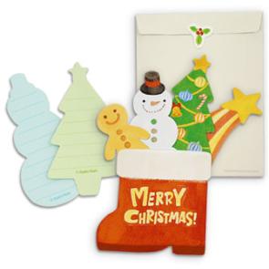 Tarjeta bota de Navidad. Manualidades a Raudales.