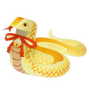 Papercraft de una Serpiente cascabel. Manualidades a Raudales.