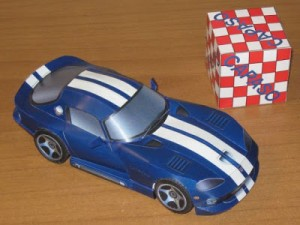 Papercraft del Dodge Viper GTS Coupe. Manualidades a Raudales.