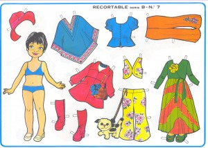 Paper dolls / Recortable muñeca 17.  Manualidades a Raudales.