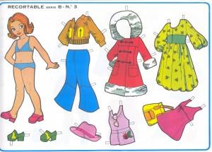 Paper dolls / Recortable muñeca 29. Manualidades a Raudales.