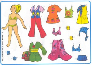 Paper dolls / Recortable muñeca 31. Manualidades a Raudales.