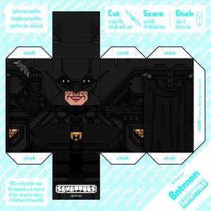 Papercraft de Batman. Manualidades a Raudales.