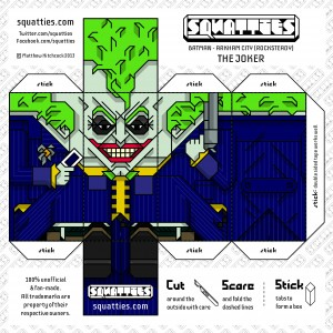Papercraft de The Joker. Manualidades a Raudales.