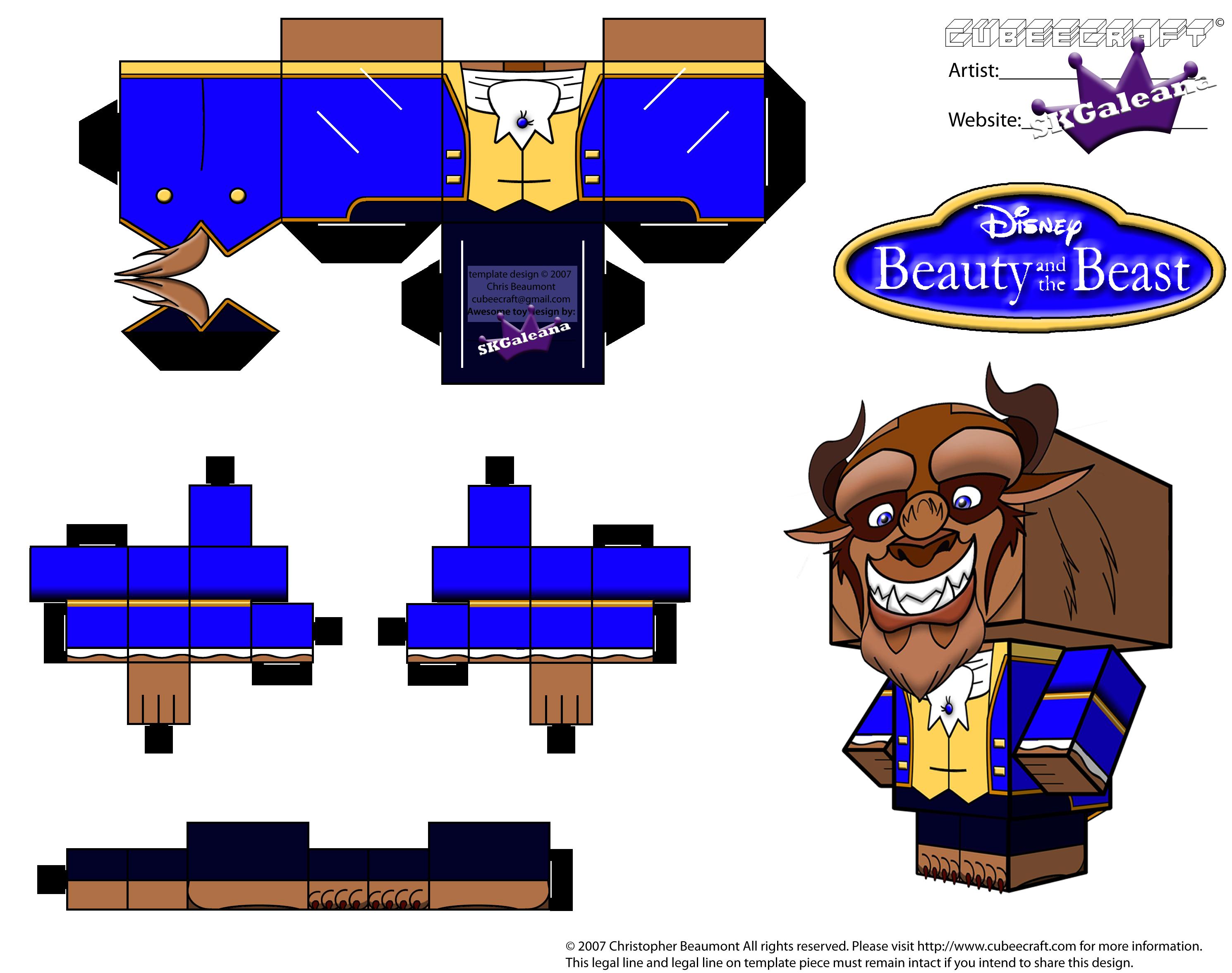 Cubeecraft de los personajes de Disney.
