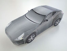 Papercraft imprimible y armable del Nissan Fairlady Z. Manualidades a Raudales.