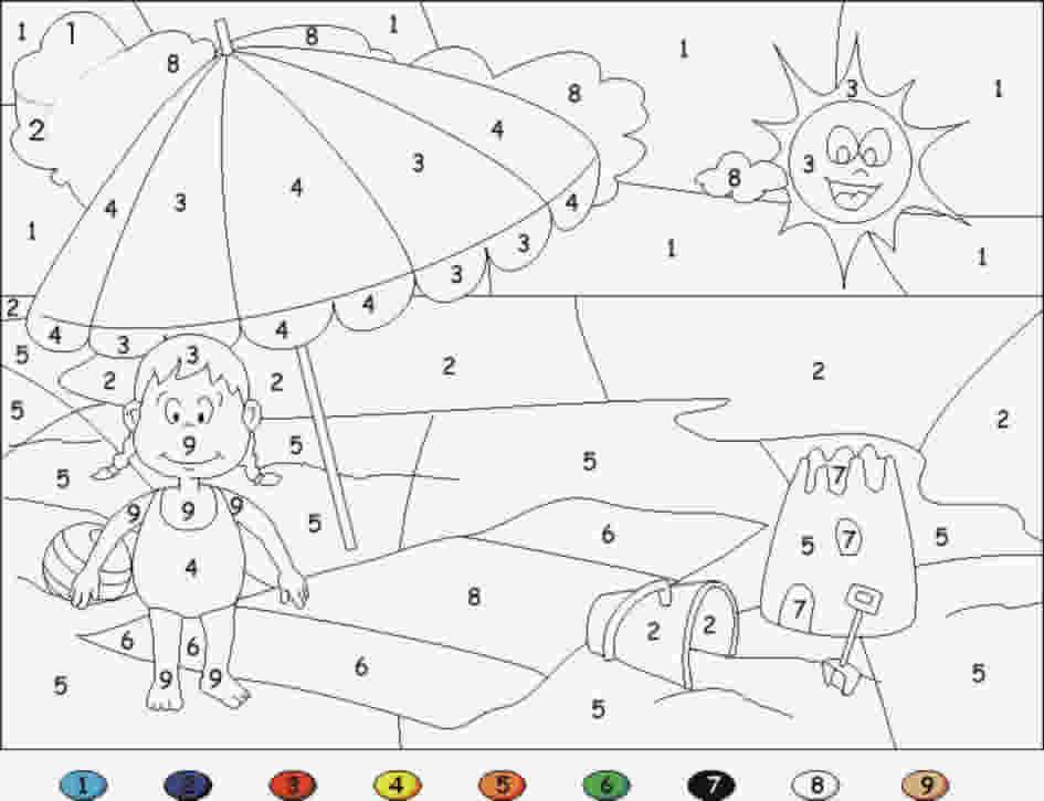 Colorear con numeros 10 - Manualidades a Raudales