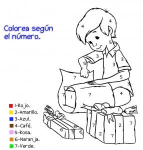 Colorear con números. Manualidades a Raudales.