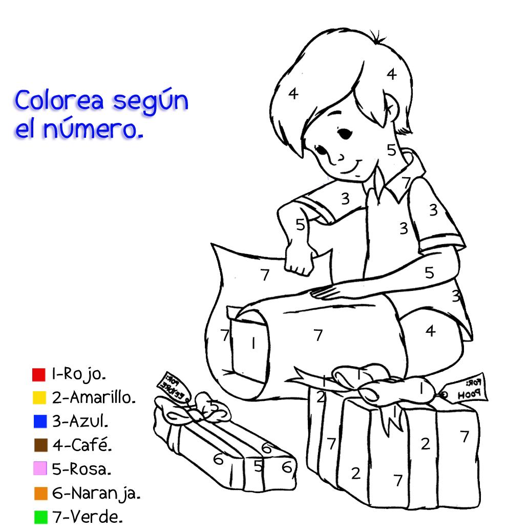 Colorear con numeros 13 - Manualidades a Raudales