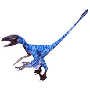 Papercraft del Dinosaurio - Bambiraptor. Manualidades a Raudales.
