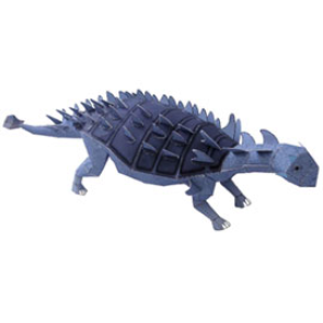 Papercraft del Dinosaurio - Euoplocephalus. Manualidades a Raudales.
