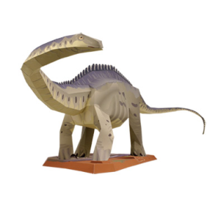 Papercraft del Dinosaurio - Supersaurus. Manualidades a Raudales.