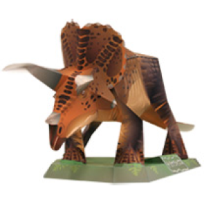 Papercraft del Dinosaurio - Triceratops. Manualidades a Raudales.