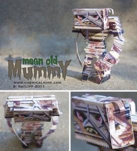 Papercraft Infantil de una Momia. Manualidades a Raudales.