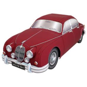 Papercraft del coche Jaguar mk2. Manualidades a Raudales.