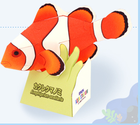 Papercraft del pez Payaso. Manualidades a Raudales.