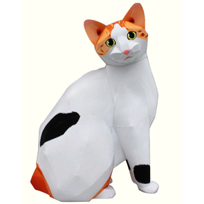 Papercraft del Gato Bobtail Japones. Manualidades a Raudales.