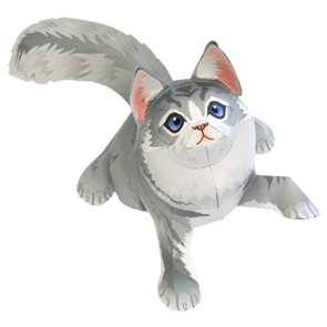 Papercraft del Gato Maine Coon. Manualidades a Raudales.