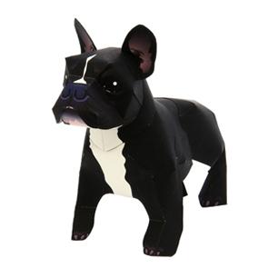 Papercraft de un Perro Bulldog Francés. Manualidades a Raudales.