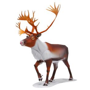 Papercraft de un Reno / Reindeer. Manualidades a Raudales.