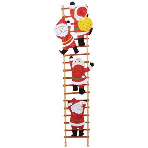 Papercraft de Papa Noel subiendo escaleras. Manualidades a Raudales.