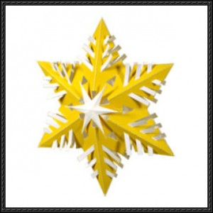 Papercraft de un adorno de cristal de nieve. Manualidades a Raudales.