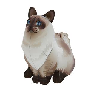 Papercraft del Gato Ragdoll. Manualidades a Raudales.