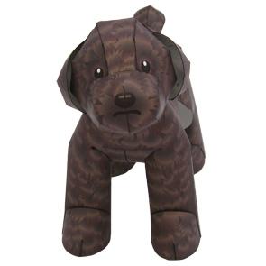 Papercraft de un Perro Caniche de miniatura. Manualidades a Raudales.