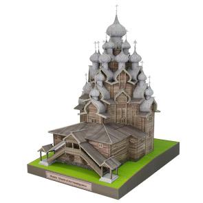 Papercraft building imprimible y armable de la Catedral de la Transfiguration. Manualidades a Raudales.