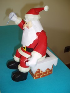 Papercraft Papa Noel - Manualidades a Raudales.
