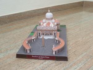 Papercraft Building de la Basílica de San Pedro en el Vaticano. Manualidades a Raudales