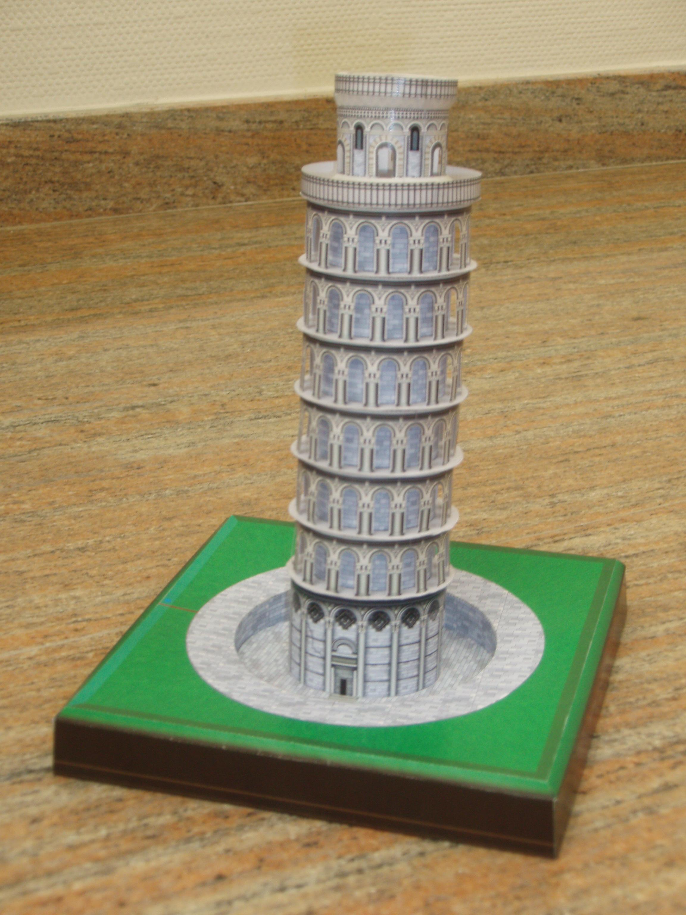 Maqueta 3d De La Torre De Pisa Manualidades A Raudales