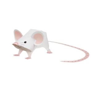 Papercraft de un ratón / mouse. Manualidades a Raudales.