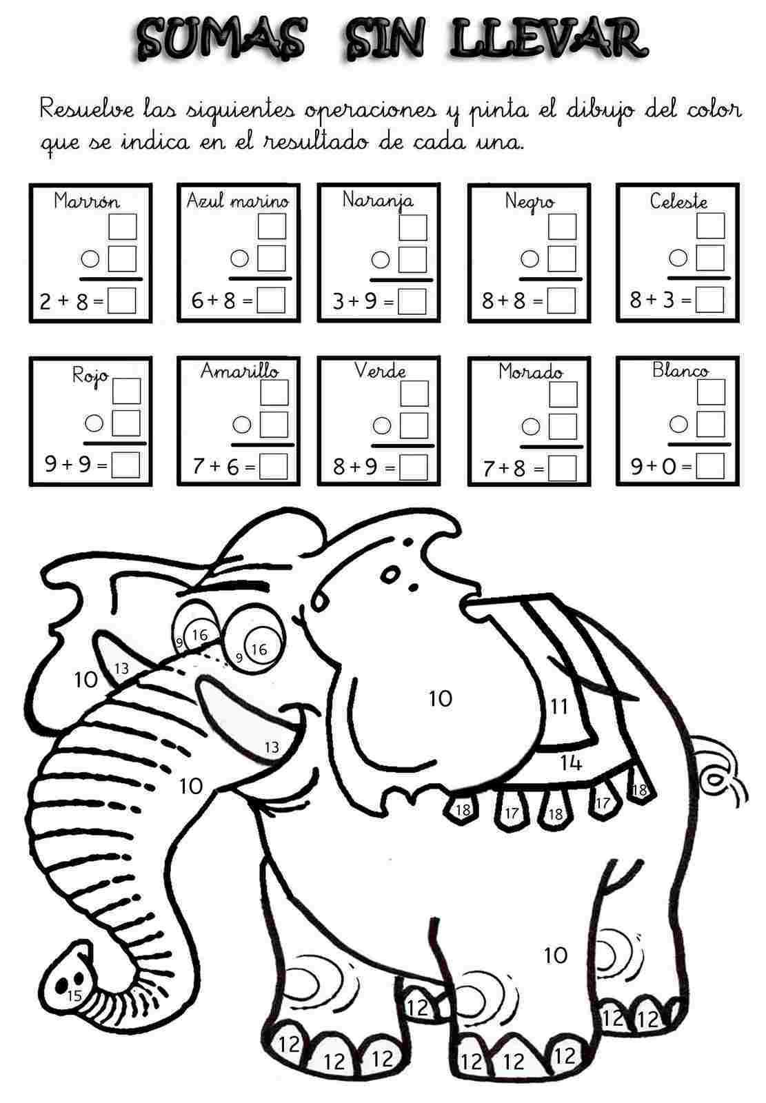 Colorear Con Operaciones Matematicas Manualidades A Raudales