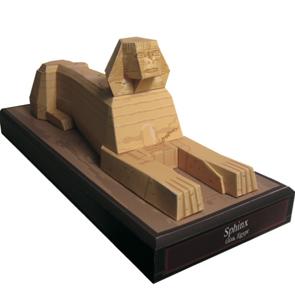 Papercraft building de la Esfinge de Egipto. Manualidades a Raudales.