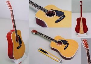 Papercraft imprimible y recortable de una Guitarra española. Manualidades a Raudales.