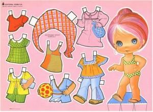 Paper dolls / Recortable de muñecas 24. Manualidades a Raudales.