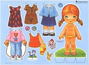 Paper dolls / Recortable de muñecas 26. Manualidades a Raudales.