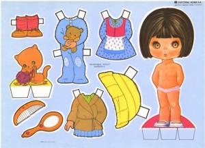 Paper dolls / Recortable de muñecas 27. Manualidades a Raudales.