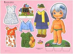 Paper dolls / Recortable de muñecas 36. Manualidades a Raudales.