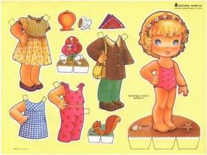 Paper dolls / Recortable de muñecas 37. Manualidades a Raudales.
